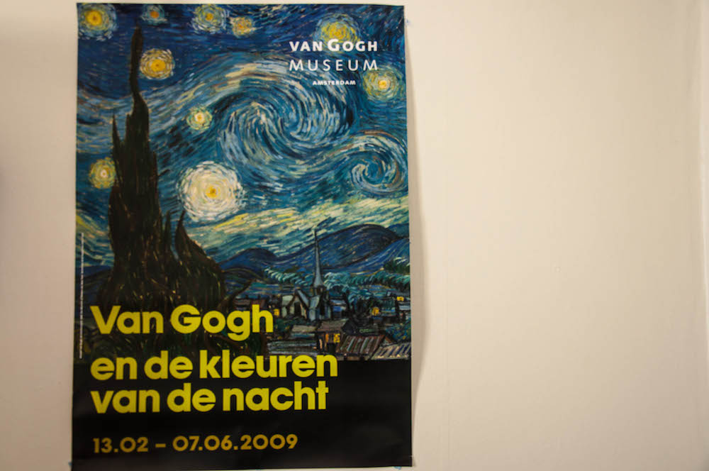 The poster of the first exhibition I saw in Amsterdam in 2009, where my favourite painting, Van Gogh Starring night's was shown.