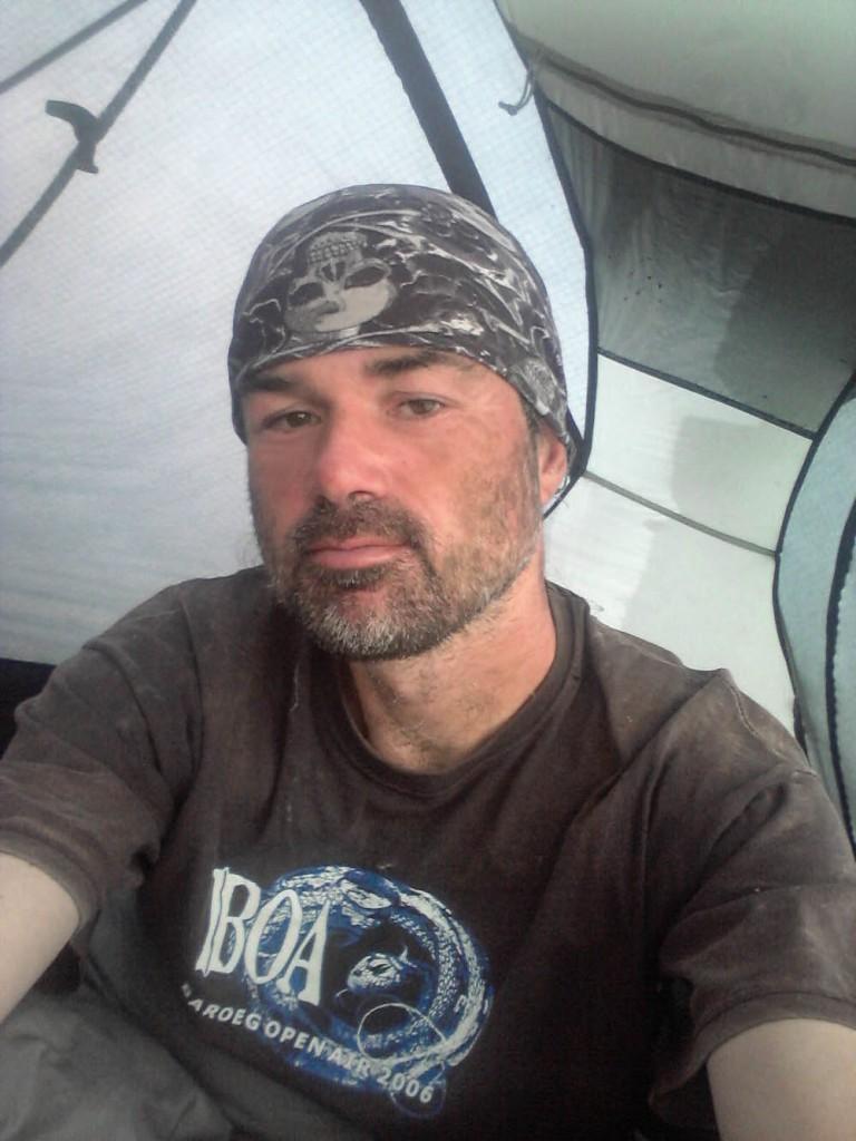 Richard's tent life