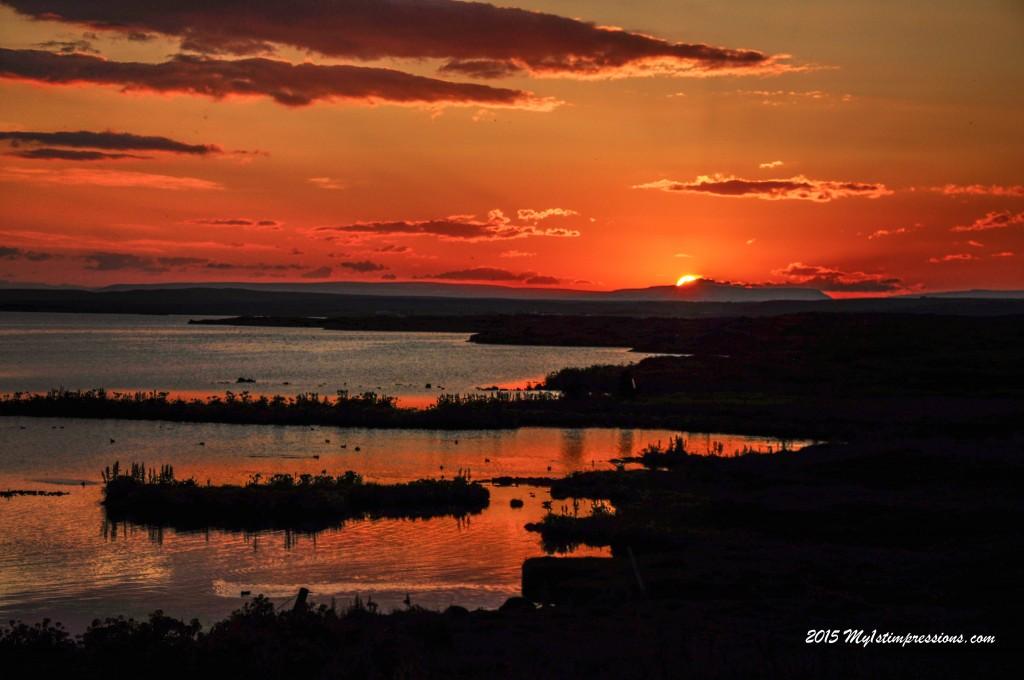 Sunset on Myvatn