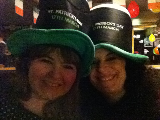 With Kristin on St. Patrick's night, when we missed the biggest Northern Lights of the century because too busy with Kilkenny in the Irish pub. Life is made of priorities!