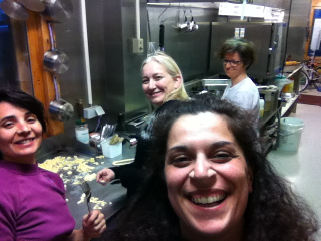With Anna, Iride and Laura making gnocchi at midnight last summer in Skagastrond