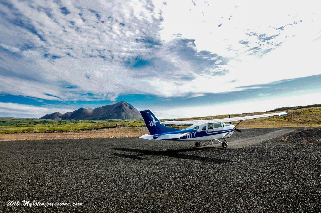 small plane, iceland