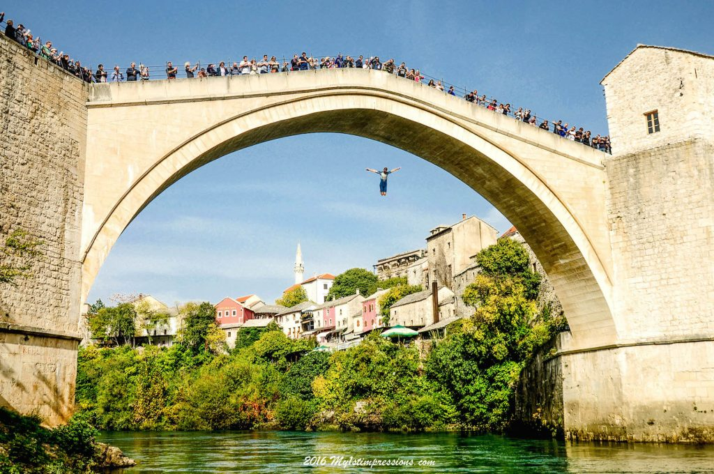 Mostar bridge jump
