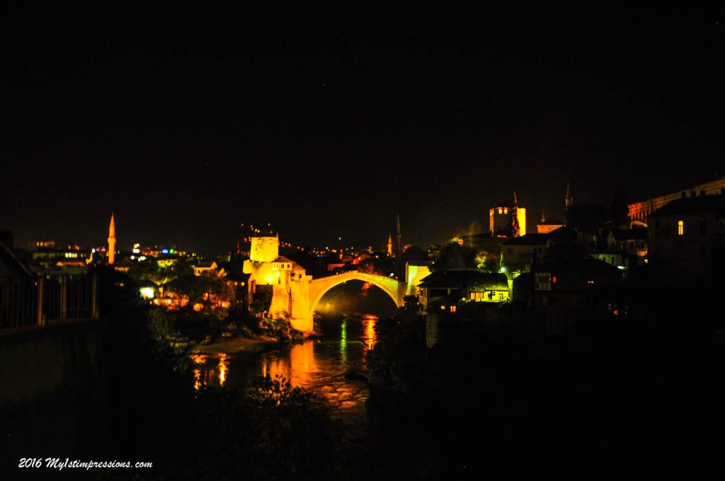 night view mostar