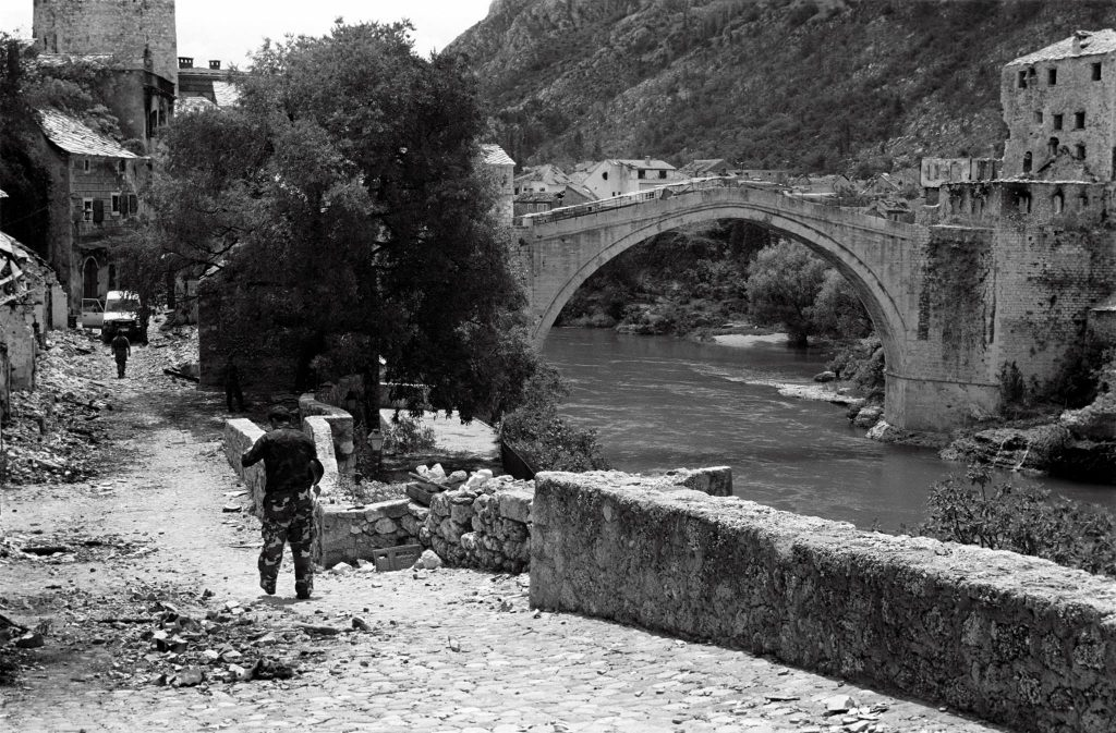 Mostar bridge, war in Jugoslavia, Bosnia