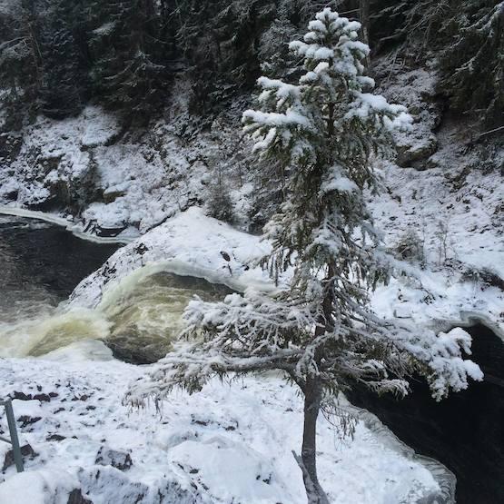 Kivach Falls, Karelia, Russia