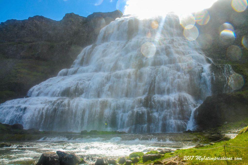 Waterfall, dynjandi, isafjordur, westfjords