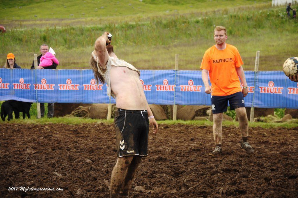Mud football, Bolungarvik, Westfjords