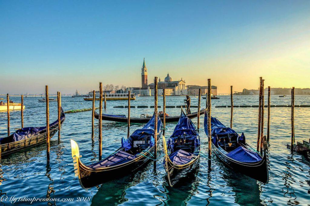 Gondolas, venice, venezia,