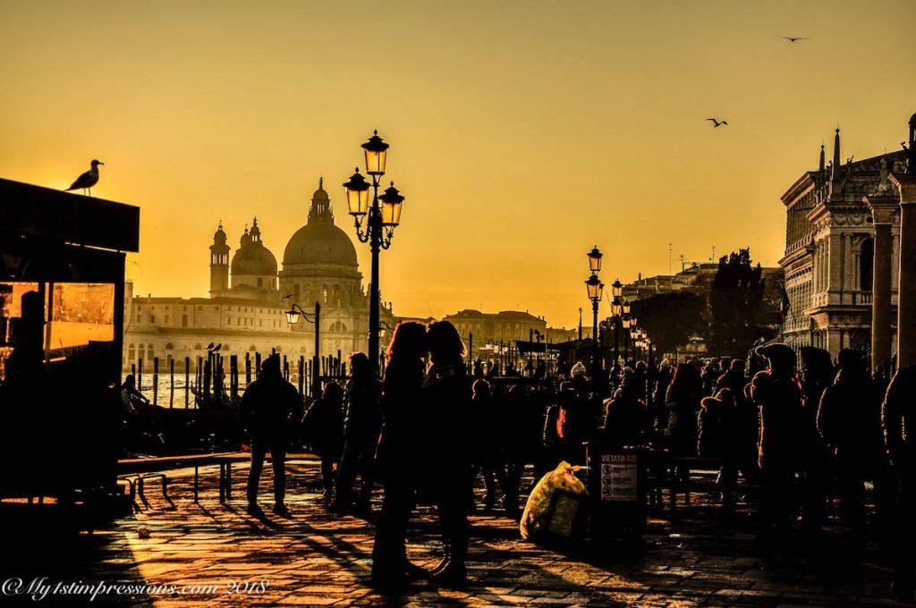 Venice, sunset, Venezia