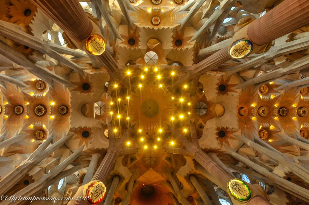 Sagrada famila, barcelona, spain, gaudì