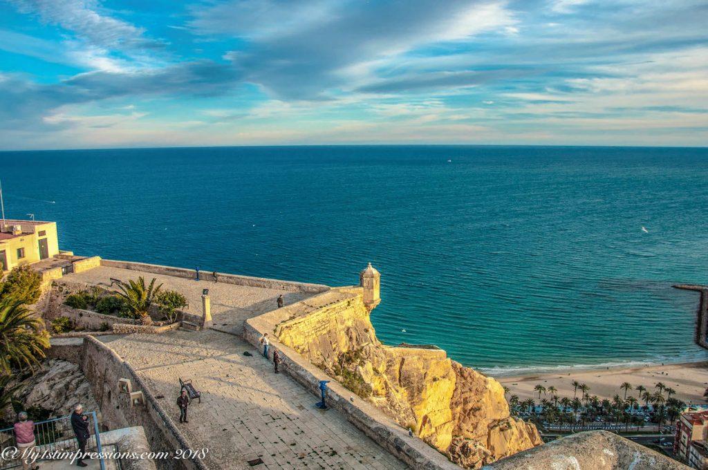 Alicante castle, Spain, landmarks