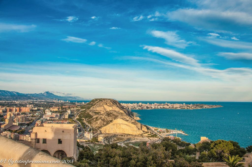 Alicante, castle, Spain, sea