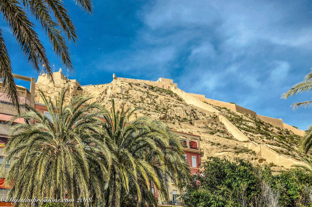 Alicante castle, spain