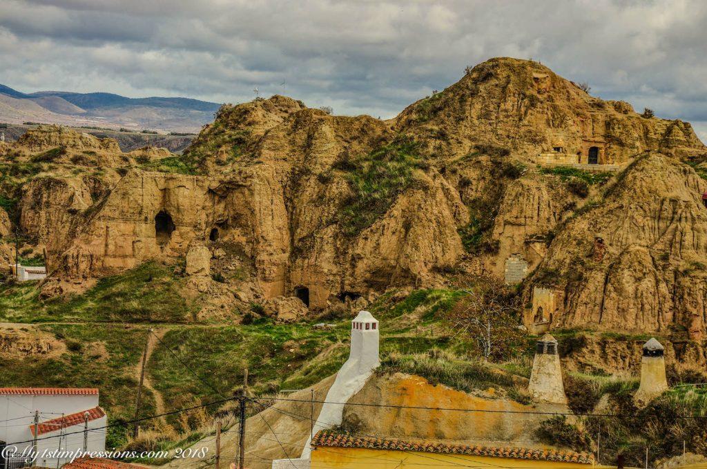 Guadix, casa cuevas, cave houses, Spain, Andalusia