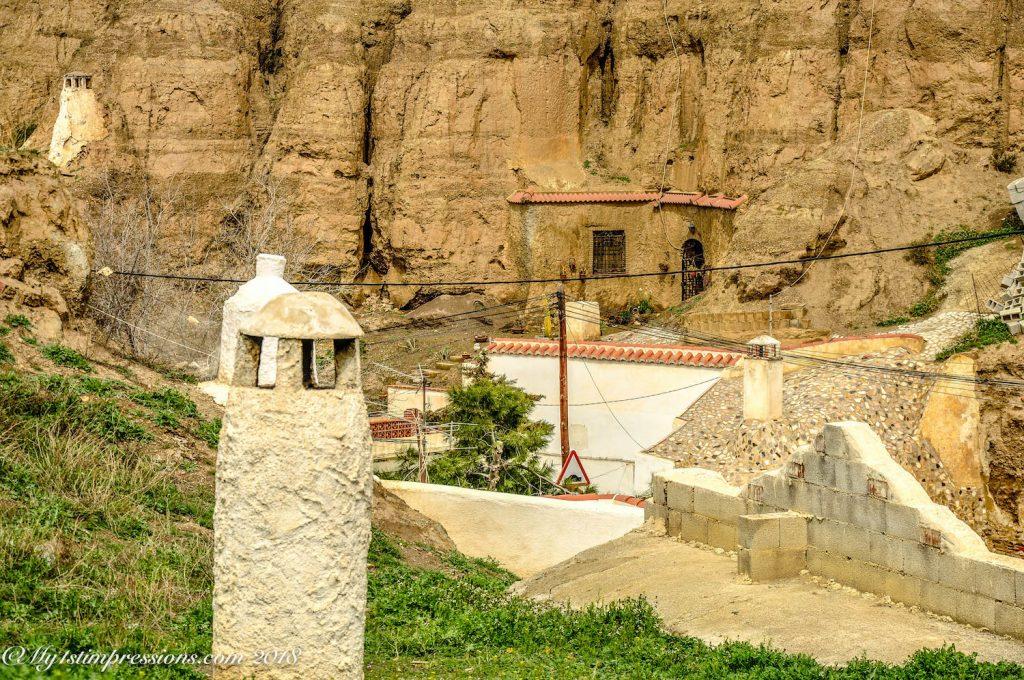 Guadix, casas cuevas, cave houses, Spain, Andalusia