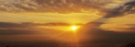 Sunrise at Menoreh Hill