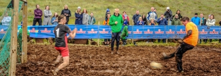 The mad mud football tournament of Iceland